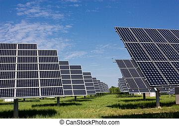 solar panel -  solar panels to produce clean energy