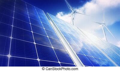 Solar Panels - Wind Turbines (Loop)