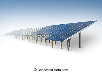 Solar park under construction