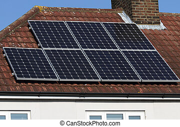 Solar photovoltaic panel roof array - Solar photovoltaic...