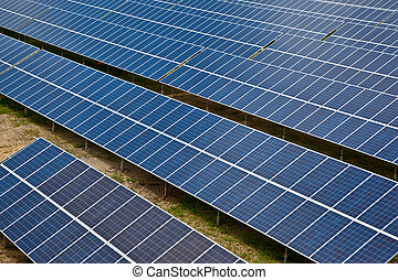 Solar photovoltaic panels - Large solar energy colector farm