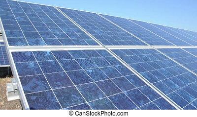 Solar photovoltaic panels. Solar pa