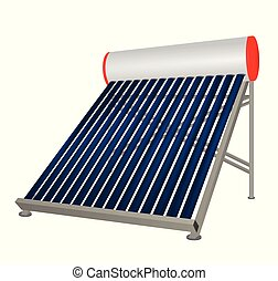 Solar pipes heater