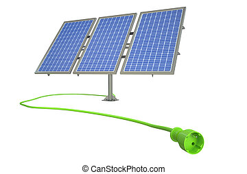solar power alternative energy concept. 3D rendering