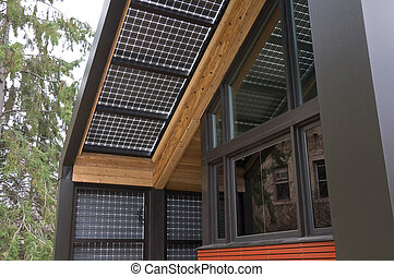 Solar Power at Home - Renewable energy house built with...