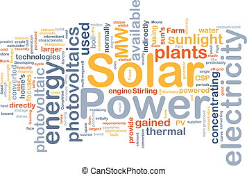 Solar power background concept - Background concept...