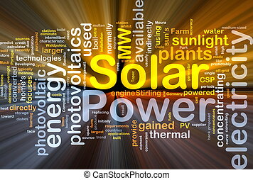 Solar power background concept glowing