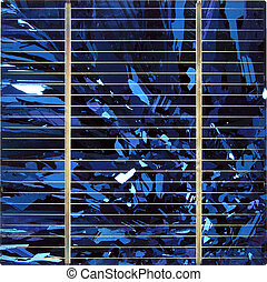 Solar Power - Blue silicate solar cell...