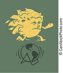Solar power - Vintage conceptual illustration %u201Esolar...