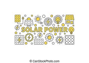 Solar power concept banner