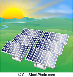 Solar power energy illustration - Illustration of a solar...