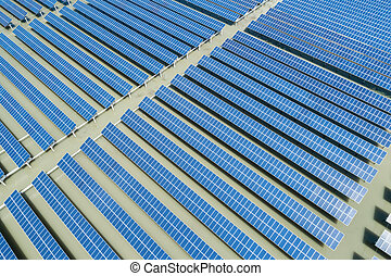 solar power energy plant aerial view
