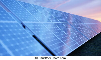 Solar power generation technology. Alternative energy. Solar...