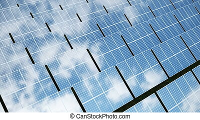 Solar power generation technology. Alternative energy. Solar...