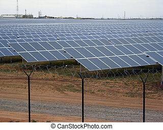 solar power panel energy farm