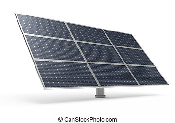 Solar power panel isolated on white background