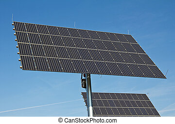 Solar Power - Photovoltaic generators in a solar park in...