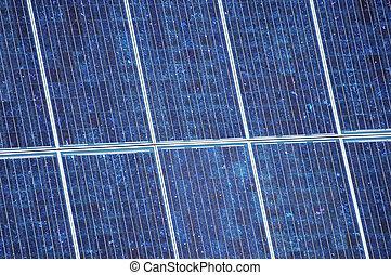 Solar Power - detail of solar panel array