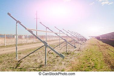 solar power plant in construction