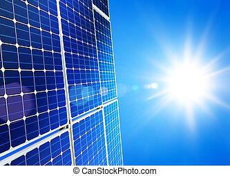 solar power - Renewable, alternative solar energy, sun-power...