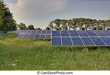 Solar Power Plant HDR - Solar power plant outside the town....