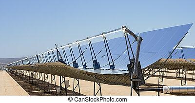 Solar Power Plant Mirrors - solar electric power plant...
