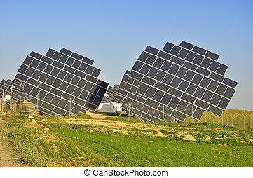 Solar power plant, modern energy in province Huelva,...