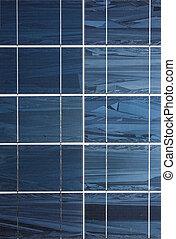 Solar power plant - Close up of solar power plant panels.
