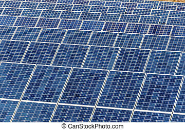solar power plant - panels of a solar power plant. solar...