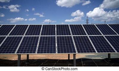 Solar power plant. solar panels - Solar power plant, solar ...
