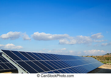 solar power plant - Solar power plants. Solar panels in...