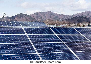 Solar power plant station