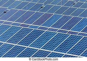 solar power plant - panels a solar power plant. solar energy...