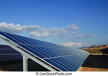 Solar power plants. Solar panels in south of Spain