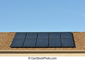 Solar Power Roof on New House