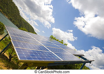 Solar Power - Solar power in some isolated place .