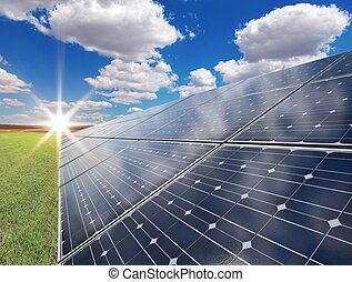 Solar power station - photovoltaics - Power plant using...