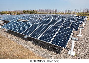 solar power station - group of solar energy panels ,,clean...