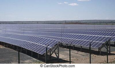 Solar power station - Solar power plant using photovoltaic ...
