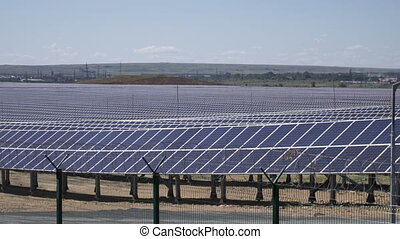 Solar power station generates solar energy