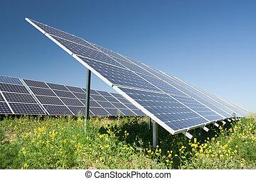 Solar power station - alternative energy