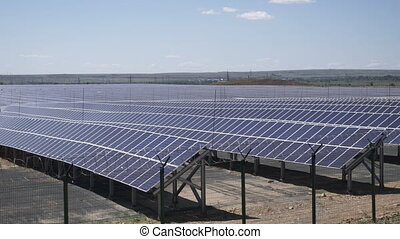 Solar power station - Solar power plant using photovoltaic...