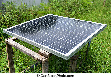 Solar Power Green energy with solar panels outdoor