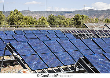 Solar Power System at Natural Bridges National Monument in...