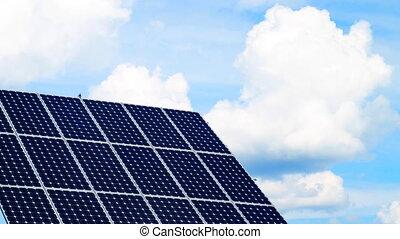 solar power, timelapse