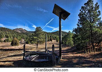 Solar powered cattle waterer