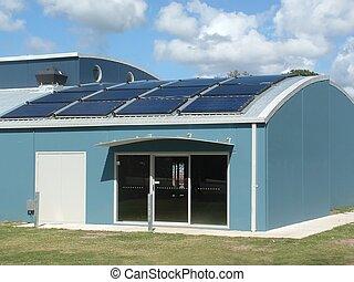Solar powered modern building