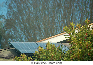 A solar powered rooftop
