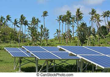Solar PV modules on remote Island in Fiji. Fiji Sustainable...