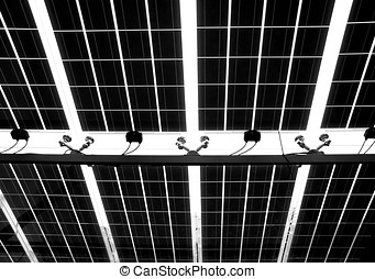 Solar Roof Seen from Below